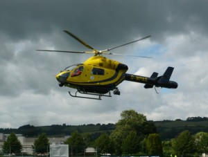 Helicopter at RUH Bath